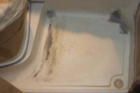 dusche vor der beschichtung - Wohnmobil Dusche Reparieren