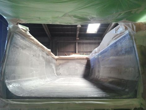 Kipper vor Beschichtung der Ladefläche